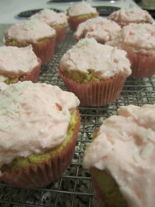 Coconut Birthday Cupcake