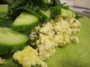 Tofu Scramble Pickle Roll