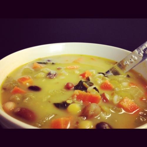 Split Pea and Kale Soup