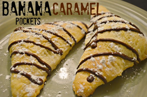 banana caramel pocket
