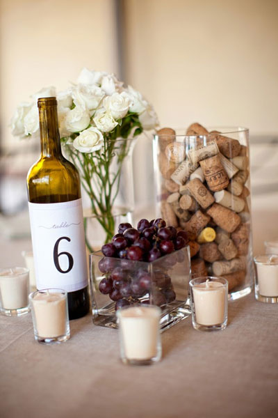 Wine centerpiece